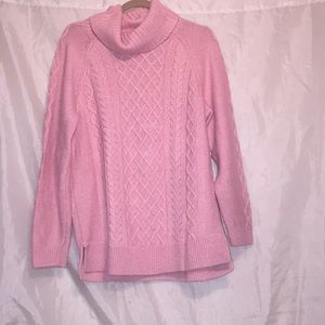 Croft&Barrow baby pink knit sweater! Size XL 💕💕